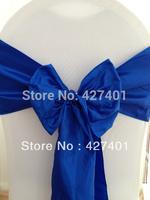 Hot Sale Royal-Blue Taffeta Chair Sash For Wedding Event & Party Decoration