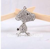 Free shipping diamond crystal dog/USB Flash drive2.0 / car/key chain/mickey/gift/drive/4GB 8GB 16GB 32GB