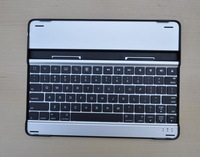 Free Shipping Aluminum Case wireless bluetooth keyboard for the new ipad ipad 3 4 2 WE CAN provide Russian letters! - Black keys