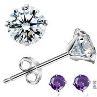 Factory direct / Free shipping hotsale crystal stud earring 925 sterling 925 Swiss AAA crystal women/girls