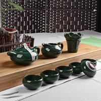 free shipping high quality Tea set calvings cup tea set calvings glaze cup set kung fu tea