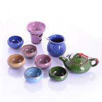 free shipping high quality Tea set tea set calvings glaze cup set purple kung fu tea