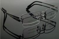 Titanium opticla myopia frame for business man half rim 9933 2014 new free shipping metal eyewear new arrival