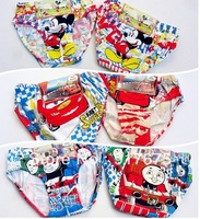 Free shipping boy children underwear briefs fit 1-9yrs kids baby cartoon cotton underwear panties short clothing 12 pieces/lot