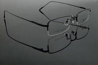 Pure Titanium opticla myopia frame for men half rim 9152 2014 new free shipping metal eyewear new arrival