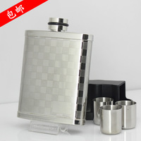 7 check cup hip flask 304 stainless steel hip flask portable outdoor hip flask funnel