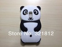 3D Panda cute soft Silicone Case For Samsung Galaxy S3 mini i8190 lovely Cartoon back Skin Cover cases 1pcs Free shipping