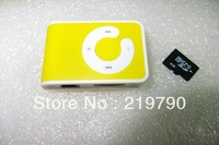 C clip MP3 Card mp3 music player with micro SD/TF card slot (only mp3) DHL free shipping 50pcs/lot