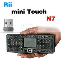 original Rii N7 MWK03RF Mini air keyboard mouse LED Backlights Backlight Touchpad for windows android device mini pc tv stick