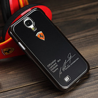 Free shipping 1PCS Metal back shell case for Samsung Galaxy SIV S4 I9500 Sports car matte phone shell cover for I9500