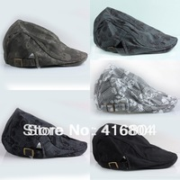 Mens Casual Newsboy Skull Head Flat Cabbie Beret Duckbill Golf Driving Cap Hat