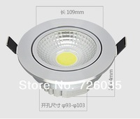 Wholesale!!! Free Shipping Dimmable COB 15W led downlight led down light led recessed light ,with the waterproof powersupply