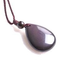 Crystal natural obsidian pendant male Women fashion accessories