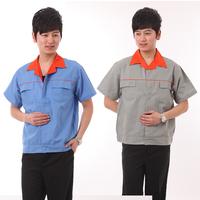Summer short-sleeve work wear single top half sleeve work wear workwear protective clothing