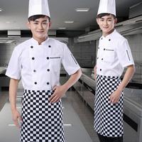 Work wear short-sleeve cook suit summer cook clothes restaurant uniforms short-sleeve