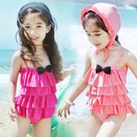 Swimwear One-Piece Dress Girl Swimming Suit Child Swimwear Baby Swimsuit Free Shipping