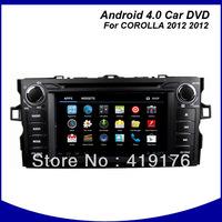 "2012 TOYOTA COROLLA/AURIS android 4.0 7"" HD Car DVD/GPS/PC system,toyota corolla android car dvd"