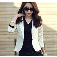 M-XL free shipping women's spring women's casual all-match slim blazer short jacket and women's suit# G11