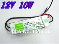 Retail sale 10pcs/lot 12v 10w  waterproof led  light power driver
