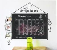 90*100cm 2013 New Arrive Cheap Chalkboard Decal Blackboard Removable waterproof  Vinyl Wall Sticker Kitchen office Chalk Board