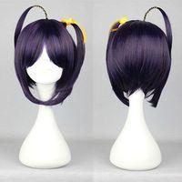 New Hot Two Braids Dark Purple 35cm Chuunibyou Demo Koi ga Shitai Takanashi Rikka Cute Cosplay Wig