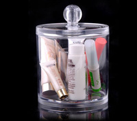 Free Shipping 22.5*9*11 CM Clear Plastic Cosmetic Tools Storage Box, Wholesale Jewelry Cosmetic Display & Packaging Cylinder Box