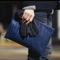 2013 fashion crocodile pattern day clutch filename package men's vintage briefcase envelope bag