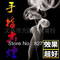 Fingers raw tobacco, hand pointed tobacco, hand rubbing smoke, the smoke magic props toy ideas