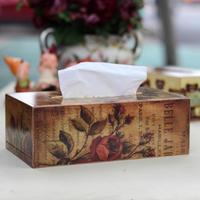 Fashion Tissue Box Household Wool Cartoon Vintage Storage Box Tissue Pumping Table Napkin Paper Toilet Paper Holder