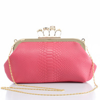 New Arrivals 2013 vintage crocodile pattern skull ring day clutch dinner clutch female bags