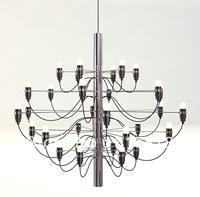 Arteluce Gino Sarfatti designed 2097 Chandelier 50 bulbs lamp