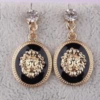 lion head stud earring female fashion fashion vintage stud earring