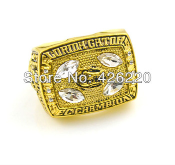 Men ring  rhodium plated  Replica 1996 florida gators SEC championship ring size 11.5,Free Shipping