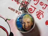 Hepburn series of white steel pocket watch enamel pocket watch necklace rahb187