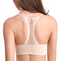 Lace summer breathable sports bra push up seamless wireless bra underwear