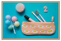 Leather series rarr yizi . pencil case 5 omelettes