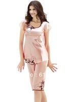 2013 sleepwear nighty sleepwear pajamas set  Women's pink watermelon color pajamas sleepcoat nightgown SW095