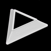 2013 New Cube4 You Cube Base Holder,Magic Cube Plastic Triangle Holder Base - White  Free shipping