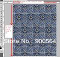 Customize your 2 design Digital printing Polyester satin 30 yards +30yd=60yd