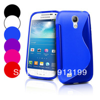 Free shipping 1pcs S Line TPU skin case for samsung galaxy s4 mini gt-i9190, TPU Gel silicone case cover for i9192 i9195 LTE