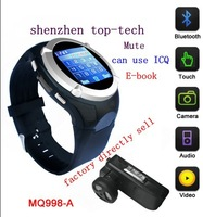 free ship 2013 design 1.5inch TFT color screen smart watch phone can support ICQ/wrist watch mobile phone/heapest watch phone