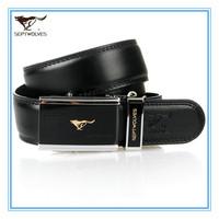 Free Shipping  High Quality Genuine Leather Men Automatic Belt Free Size Cowskin Split Leather Black Belts 1.1-1.25M WA20173J