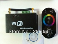 WIFI RGB LED Controller Touchable screenRF remote control DC5-24V for Android or IOS system mobile phone Smartphone 4A*3 Output