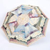 Romantic annecity automatic umbrella sun protection