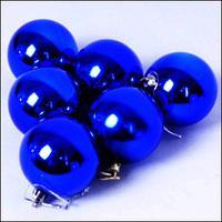 Free sgipping Christmas tree decoration blue color plated ball 4cm,christmas ball  24pcs/lot