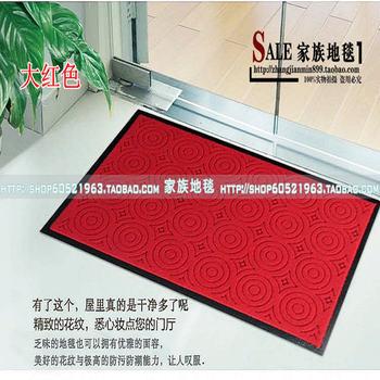Home door mat carpet compound double stripe pvc mats dust pad import doormat carpet
