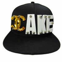 2013 new fashion!! Hiphop crystal letter AKE rivet hiphop hat  baseball cap!!