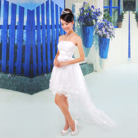 Wedding dress yarn elegant bride dress hs176 low-high