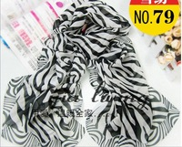 Elegant striped chiffon long scarf fashion lady scarf Scarves Seasons