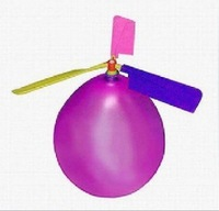 600set/lot Balloon Helicopter balloon Toy children Toy self-combined Balloon Helicopter children